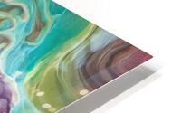 Peacock Marble Abstract HD Metal print