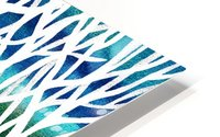 White And Teal Forest HD Metal print