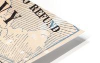 1945 Notre Dame vs. Navy Football Ticket Stub Metal Sign HD Metal print