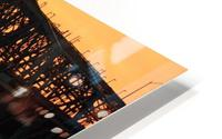 Champlain Bridge sunset HD Metal print