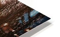 Snowy winter road HD Metal print