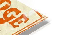Orange vintage advertising poster HD Metal print