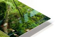 Small Waterfall in the German Black Forest HD Metal print