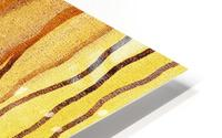 Organic Lines Beige Abstract HD Metal print