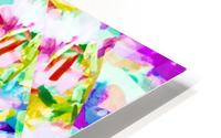 psychedelic splash painting abstract in pink blue yellow green purple HD Metal print