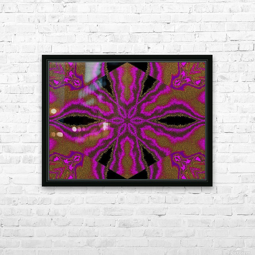 A Flower 3 HD Sublimation Metal print with Decorating Float Frame (BOX)