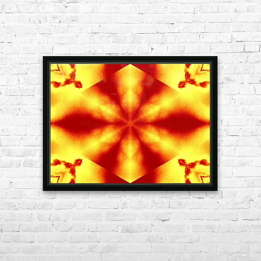 A Flower 12 HD Sublimation Metal print with Decorating Float Frame (BOX)