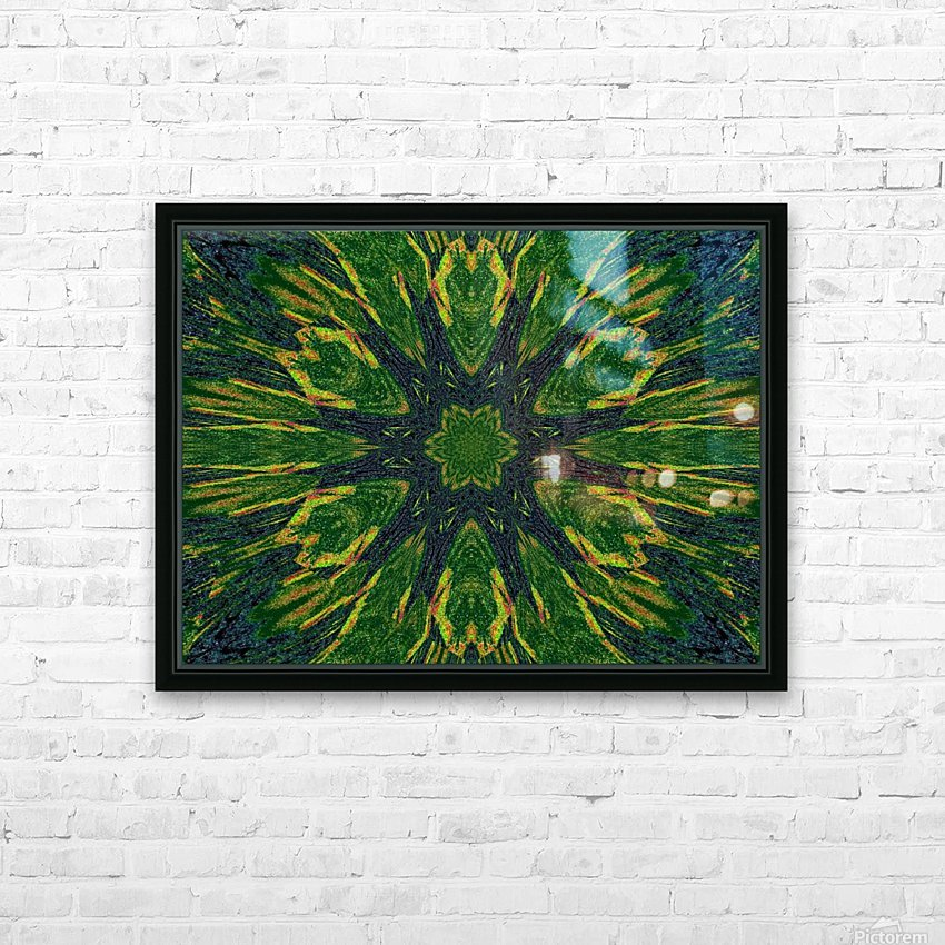 Green Flower 4 HD Sublimation Metal print with Decorating Float Frame (BOX)