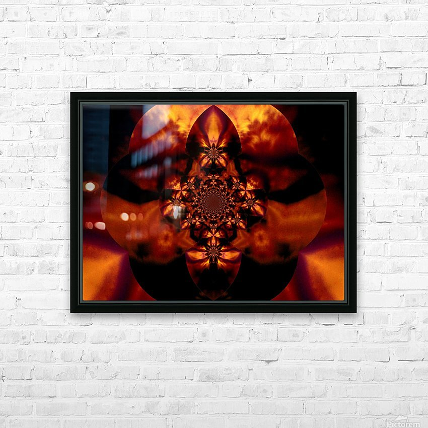 Fire Orchid 1 HD Sublimation Metal print with Decorating Float Frame (BOX)