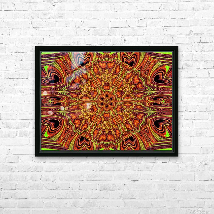 Sunshine in Flowers  HD Sublimation Metal print with Decorating Float Frame (BOX)