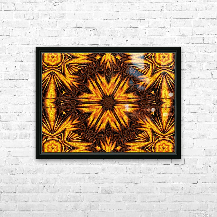 Golden Dandelion HD Sublimation Metal print with Decorating Float Frame (BOX)