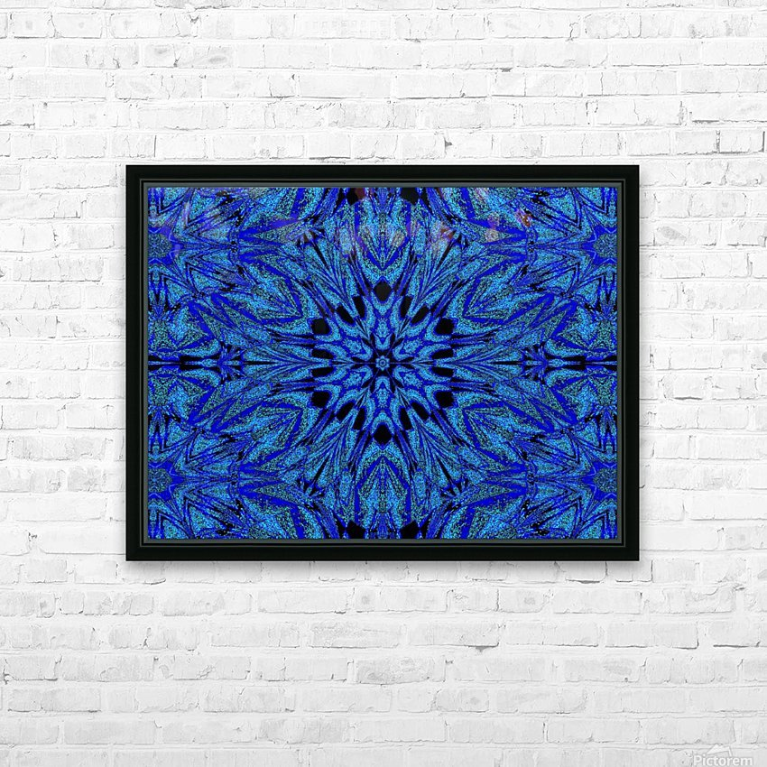 Electric Blue 1 HD Sublimation Metal print with Decorating Float Frame (BOX)