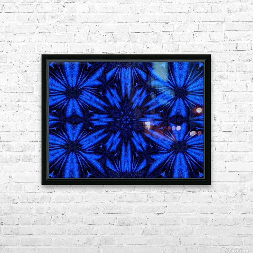 Midnight Flowers HD Sublimation Metal print with Decorating Float Frame (BOX)