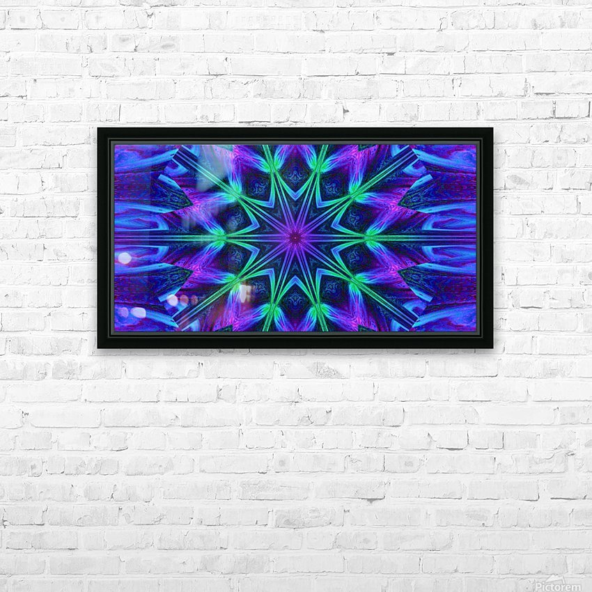 Night Flower 1 HD Sublimation Metal print with Decorating Float Frame (BOX)