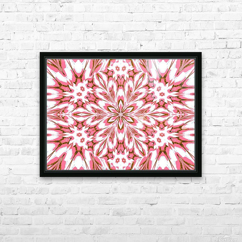 Pink Forget-Me-Nots 1 HD Sublimation Metal print with Decorating Float Frame (BOX)