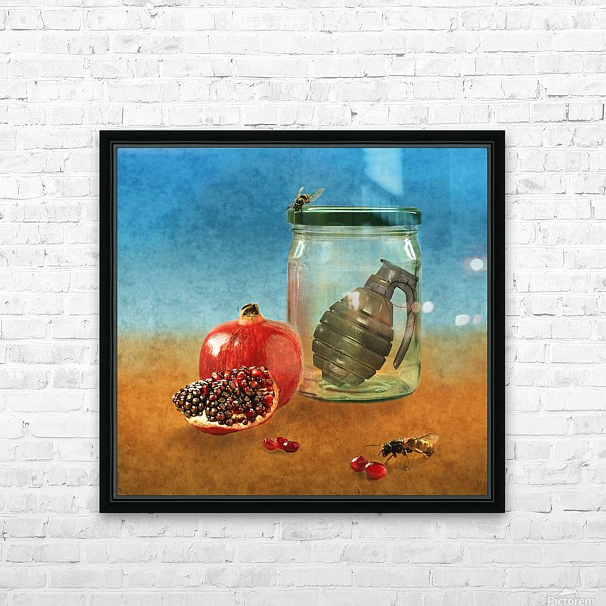 Seal off the war HD Sublimation Metal print with Decorating Float Frame (BOX)
