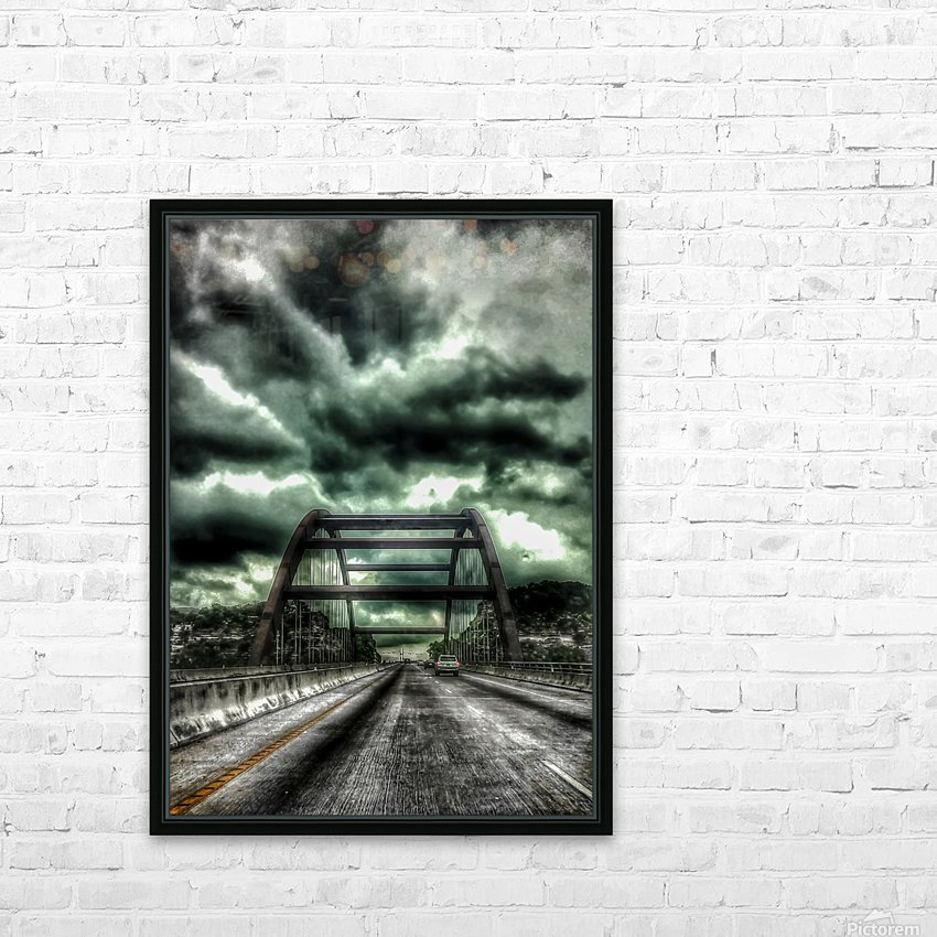 Pennybacker Bridge HD Sublimation Metal print with Decorating Float Frame (BOX)