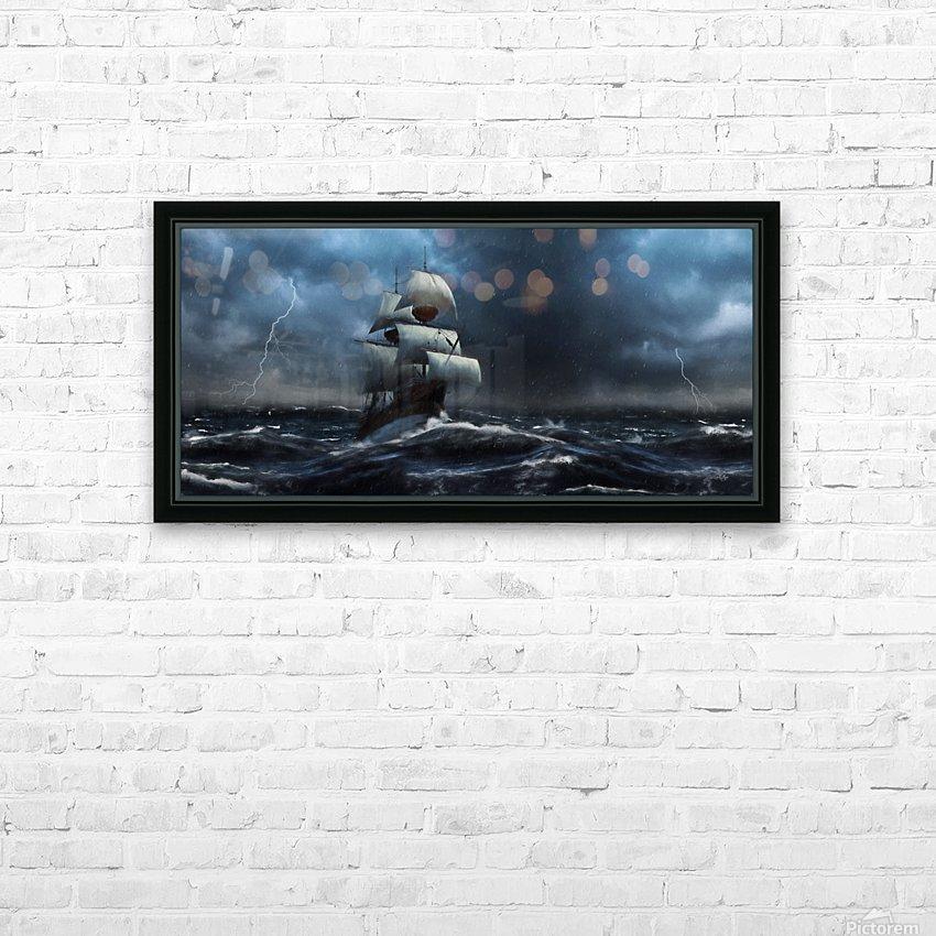 Stormy Seas by Jordan Blackstone HD Sublimation Metal print with Decorating Float Frame (BOX)