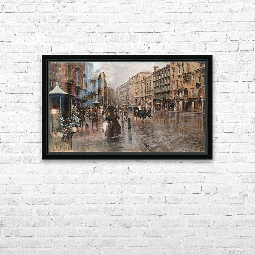Napoli, Via Toledo HD sublimation métal imprimé avec décoration flotteur cadre (boîte)