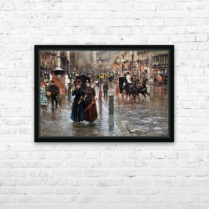 Naples via Toledo, with rain drops HD sublimation métal imprimé avec décoration flotteur cadre (boîte)