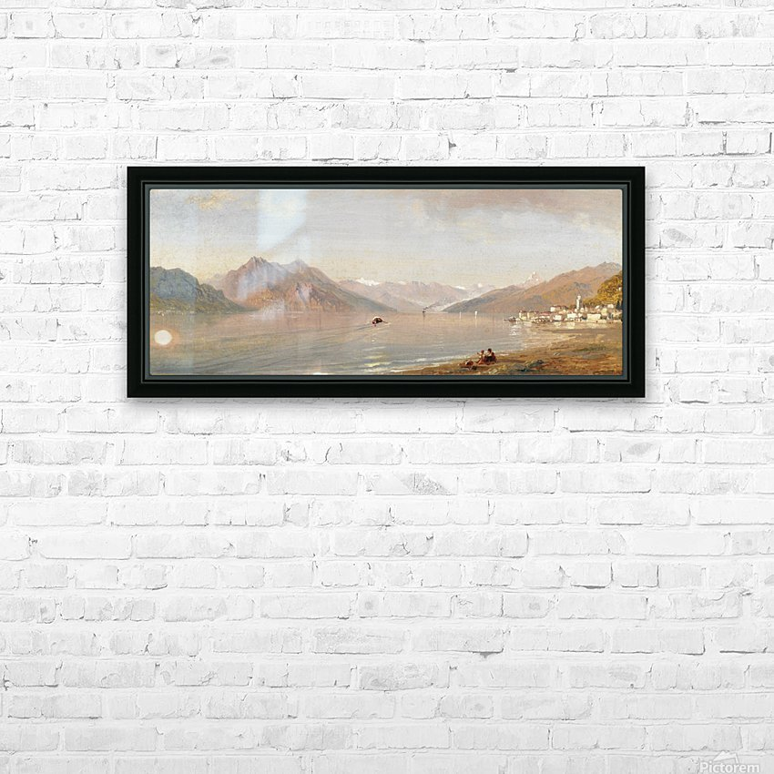 Lake view with mountains in the back HD Sublimation Metal print with Decorating Float Frame (BOX)