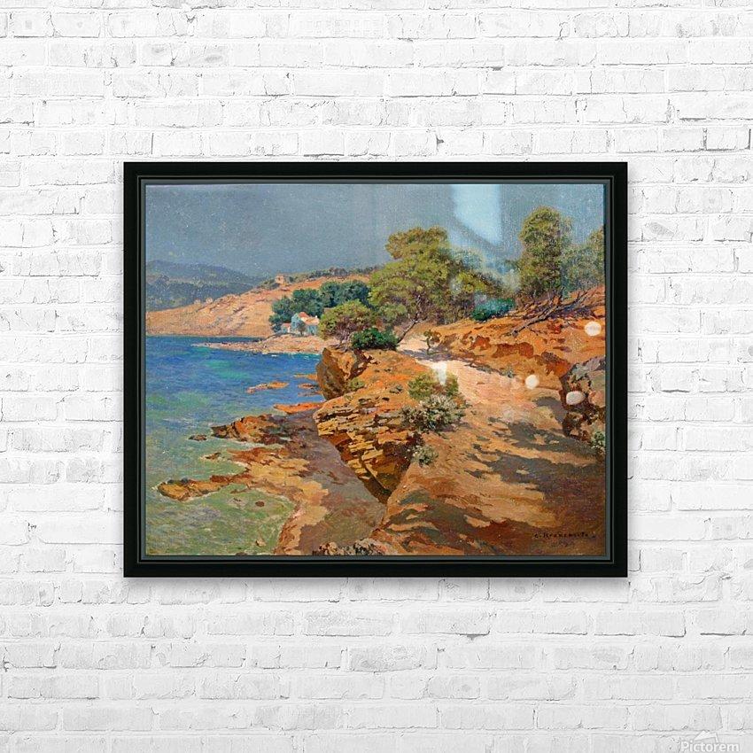 Landscape along the Italian coast HD sublimation métal imprimé avec décoration flotteur cadre (boîte)