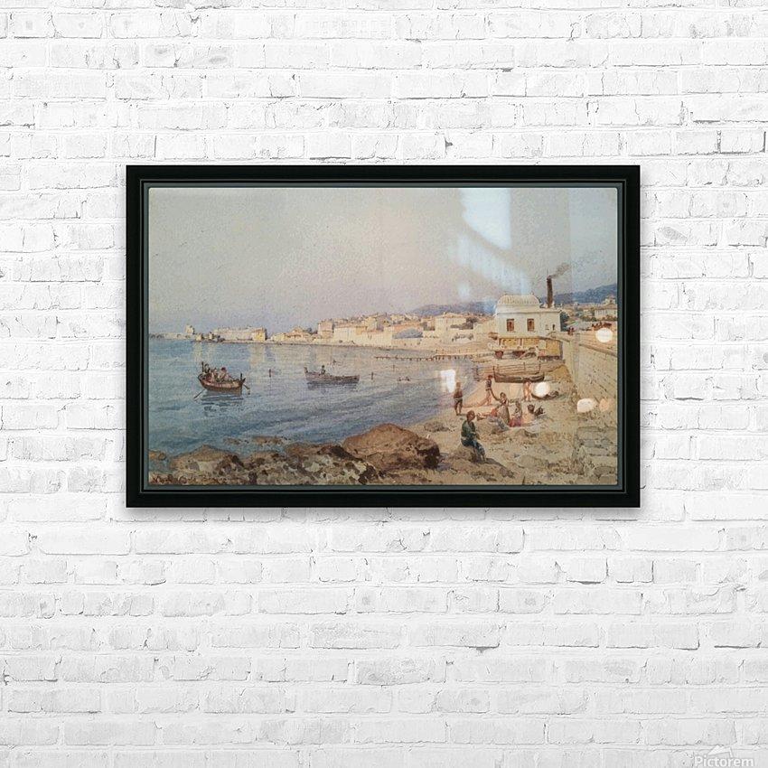Marina di Napoli HD sublimation métal imprimé avec décoration flotteur cadre (boîte)