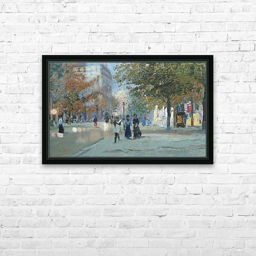 Avenue de l'Observatoire HD Sublimation Metal print with Decorating Float Frame (BOX)