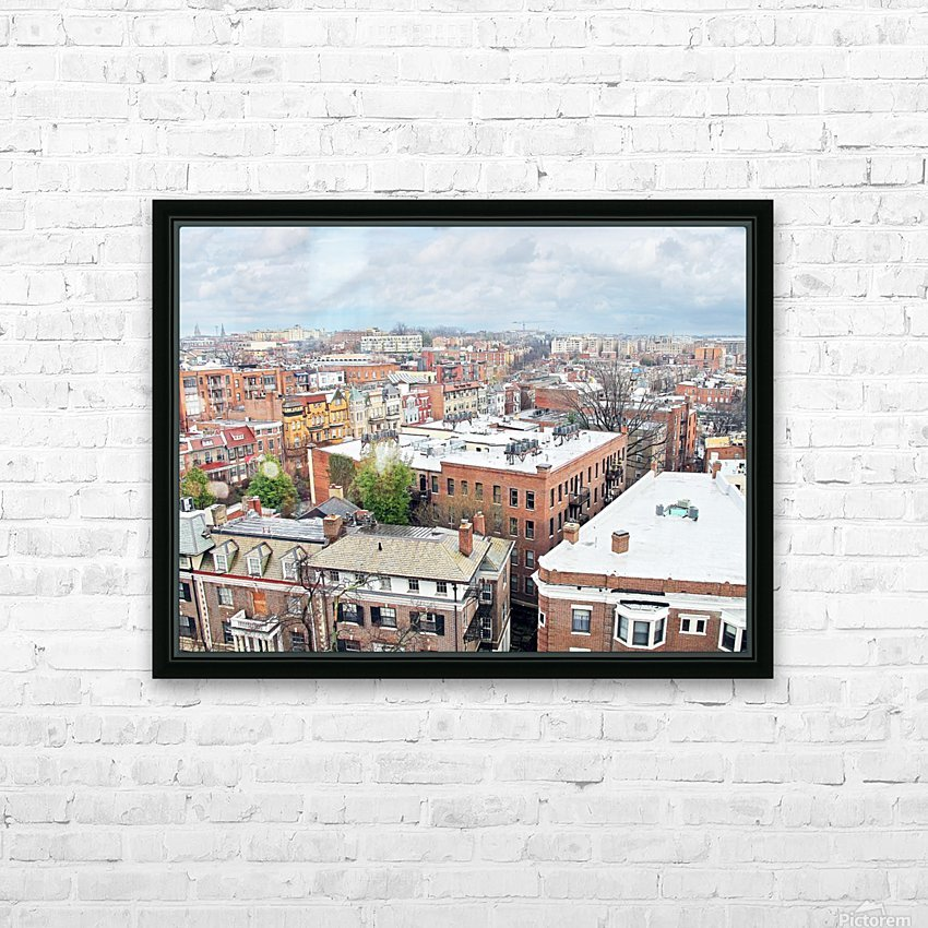 City Roof Tops  HD Sublimation Metal print with Decorating Float Frame (BOX)
