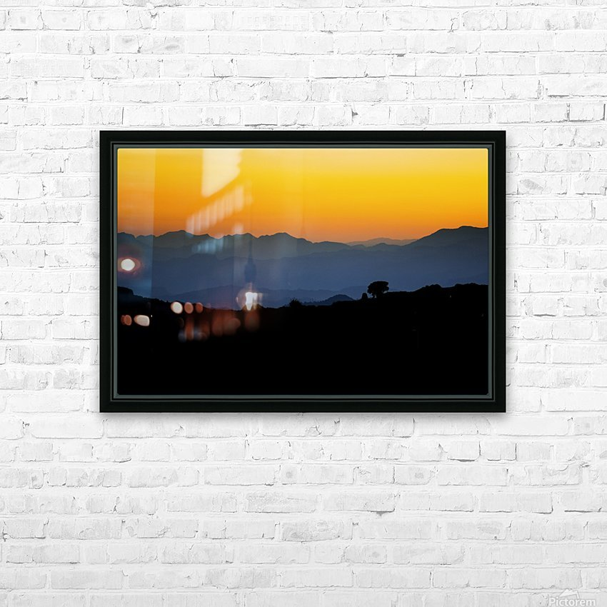 Layer of dawn HD Sublimation Metal print with Decorating Float Frame (BOX)