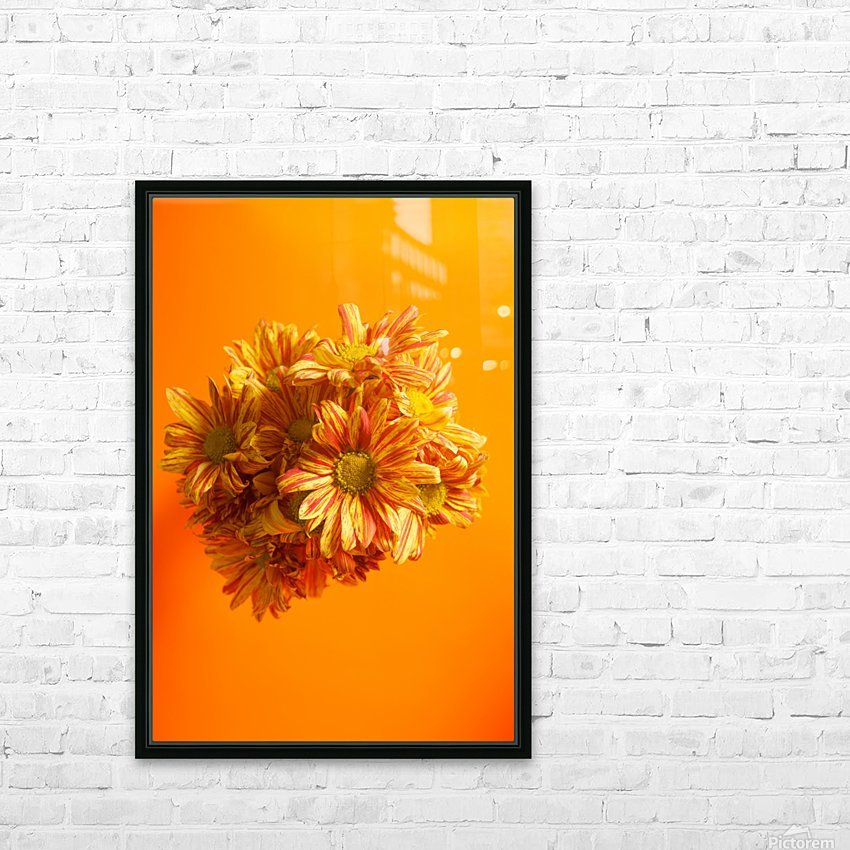 Orange scent HD Sublimation Metal print with Decorating Float Frame (BOX)