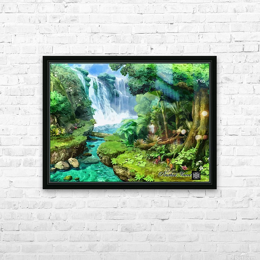 ART  Pinchos  WATER  Baal shem tov VR HD Sublimation Metal print with Decorating Float Frame (BOX)
