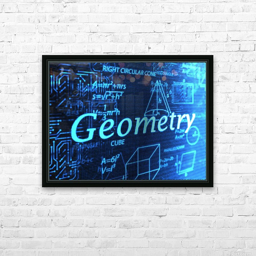 Geomtry HD Sublimation Metal print with Decorating Float Frame (BOX)
