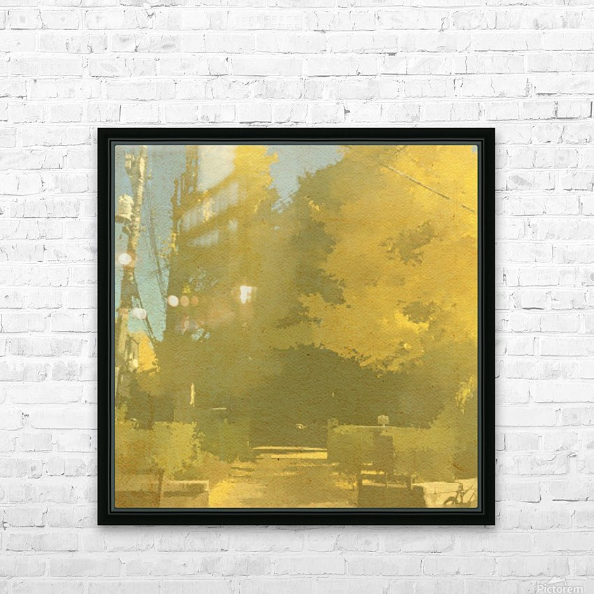 Fall Trees HD Sublimation Metal print with Decorating Float Frame (BOX)