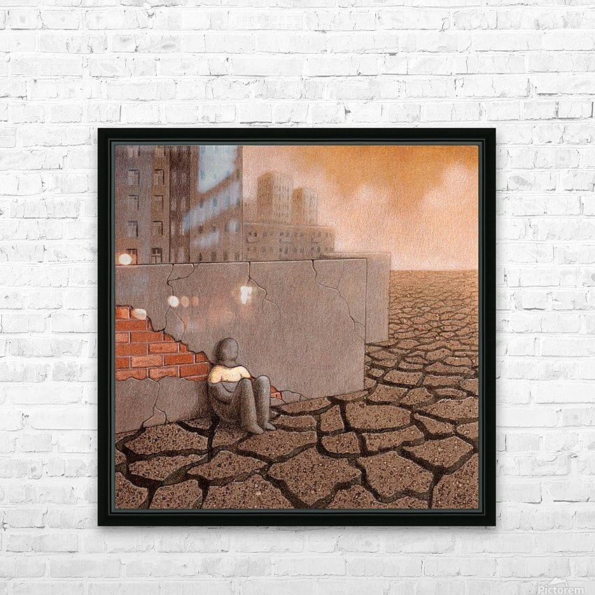 Dead City HD Sublimation Metal print with Decorating Float Frame (BOX)