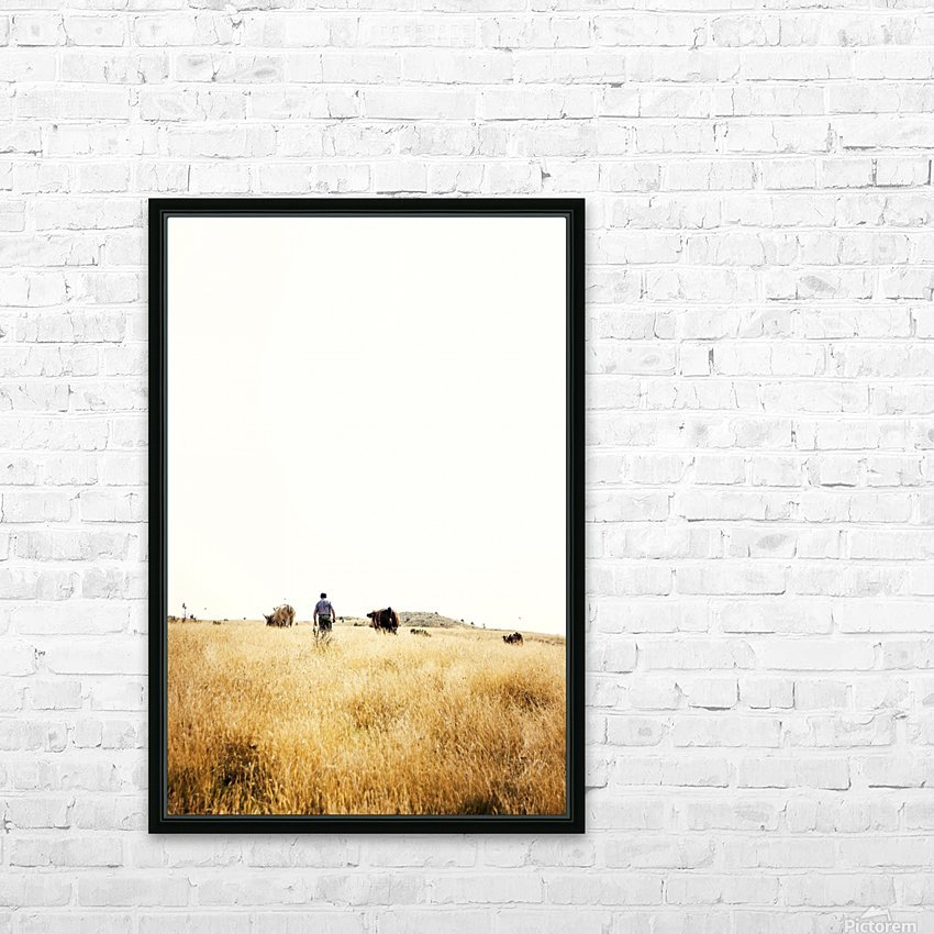 Cow man HD Sublimation Metal print with Decorating Float Frame (BOX)