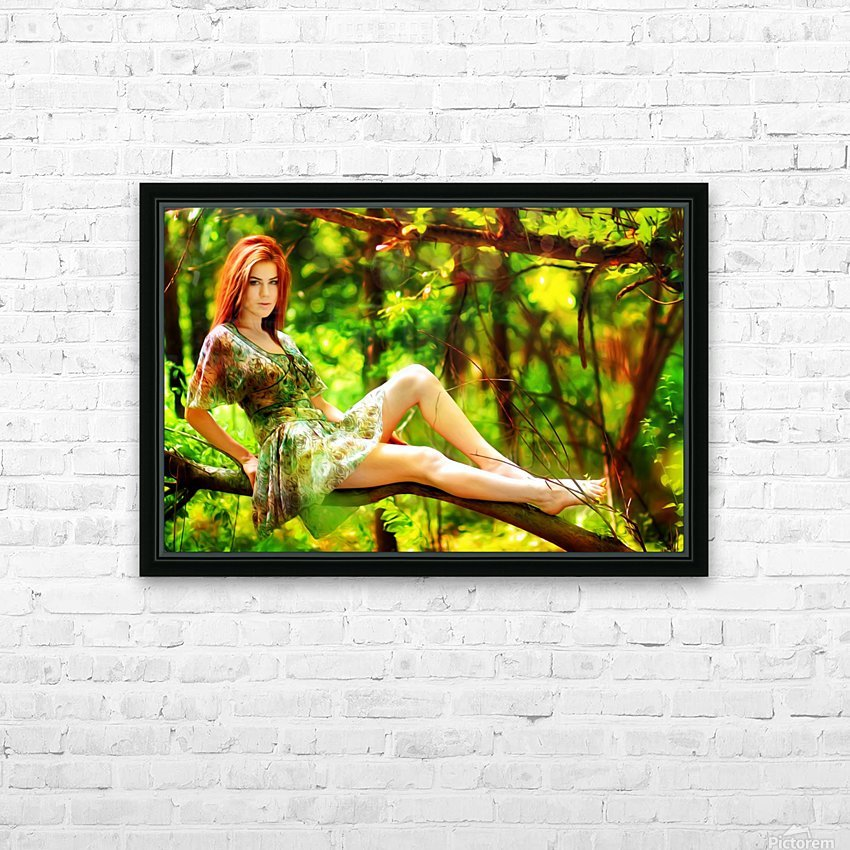 TREEgirl2 HD Sublimation Metal print with Decorating Float Frame (BOX)