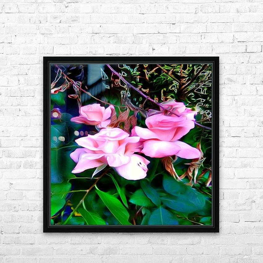 friendsFlower HD Sublimation Metal print with Decorating Float Frame (BOX)