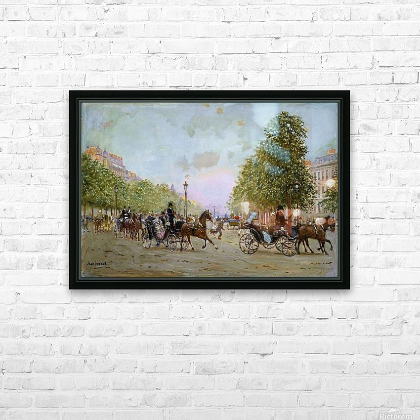 The Promenade on the Champs-Elysees HD Sublimation Metal print with Decorating Float Frame (BOX)