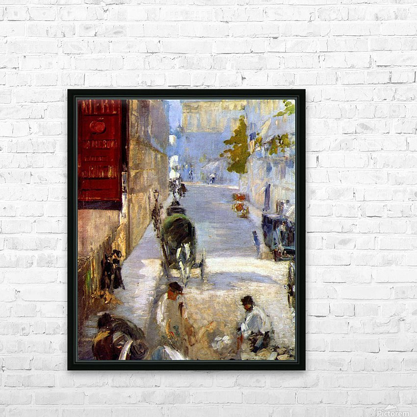 Road workers, rue de Berne (detail) by Manet HD Sublimation Metal print with Decorating Float Frame (BOX)