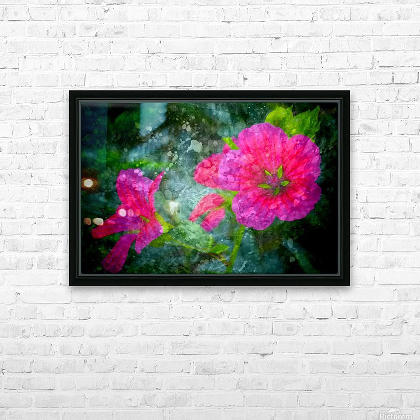 Fleurs d'artifices HD Sublimation Metal print with Decorating Float Frame (BOX)
