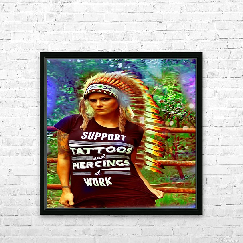 tatsIndian2 HD Sublimation Metal print with Decorating Float Frame (BOX)