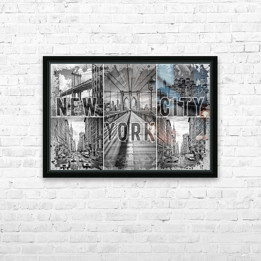 NEW YORK CITY Urban Collage No. 3 HD Sublimation Metal print with Decorating Float Frame (BOX)