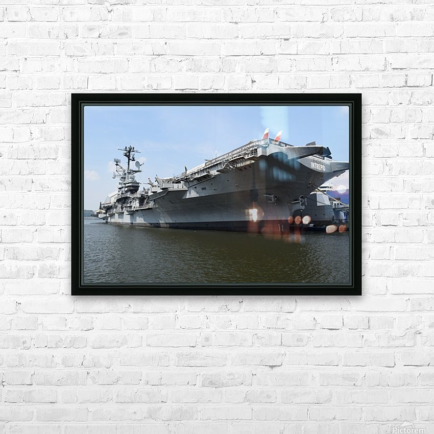 THE INTREPID, NEW YORK HD Sublimation Metal print with Decorating Float Frame (BOX)
