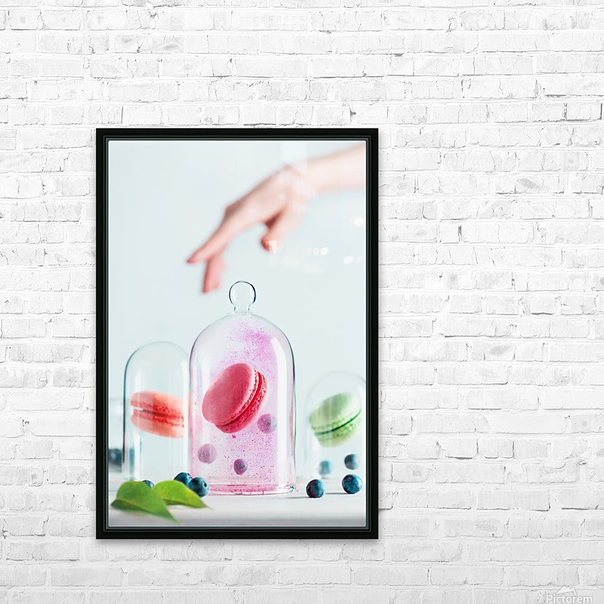 Precious macarons HD Sublimation Metal print with Decorating Float Frame (BOX)