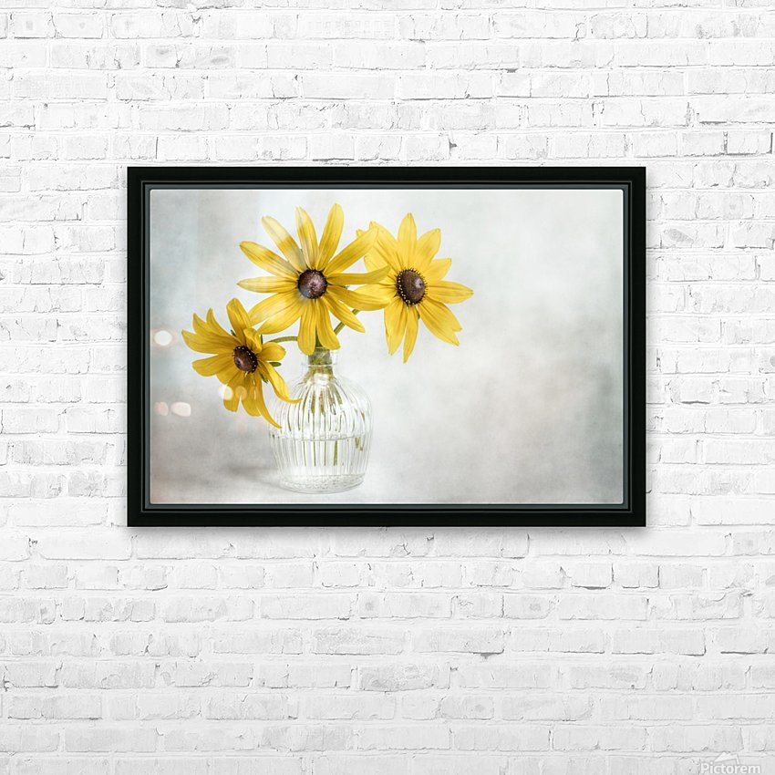 Rudbeckia HD Sublimation Metal print with Decorating Float Frame (BOX)