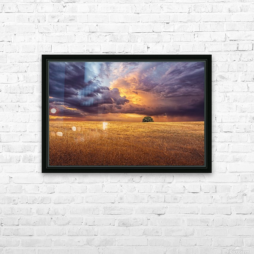 Alone HD Sublimation Metal print with Decorating Float Frame (BOX)