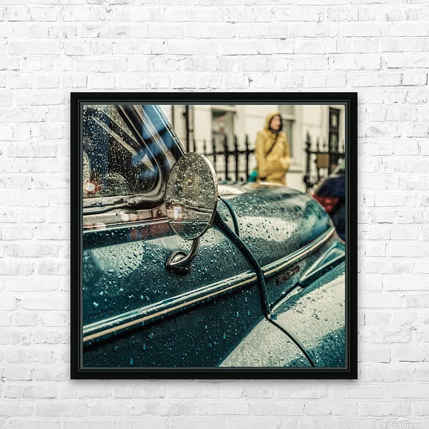 London Rain HD Sublimation Metal print with Decorating Float Frame (BOX)