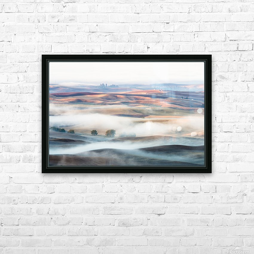 Misty Morning HD Sublimation Metal print with Decorating Float Frame (BOX)