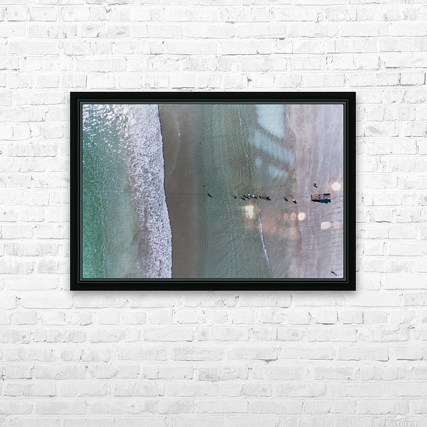 Fisherman from the sky HD Sublimation Metal print with Decorating Float Frame (BOX)